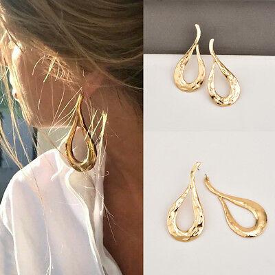Fashion Jewelry Metal Statement Dangle Drop Big Gold Geometric Stud Earrings