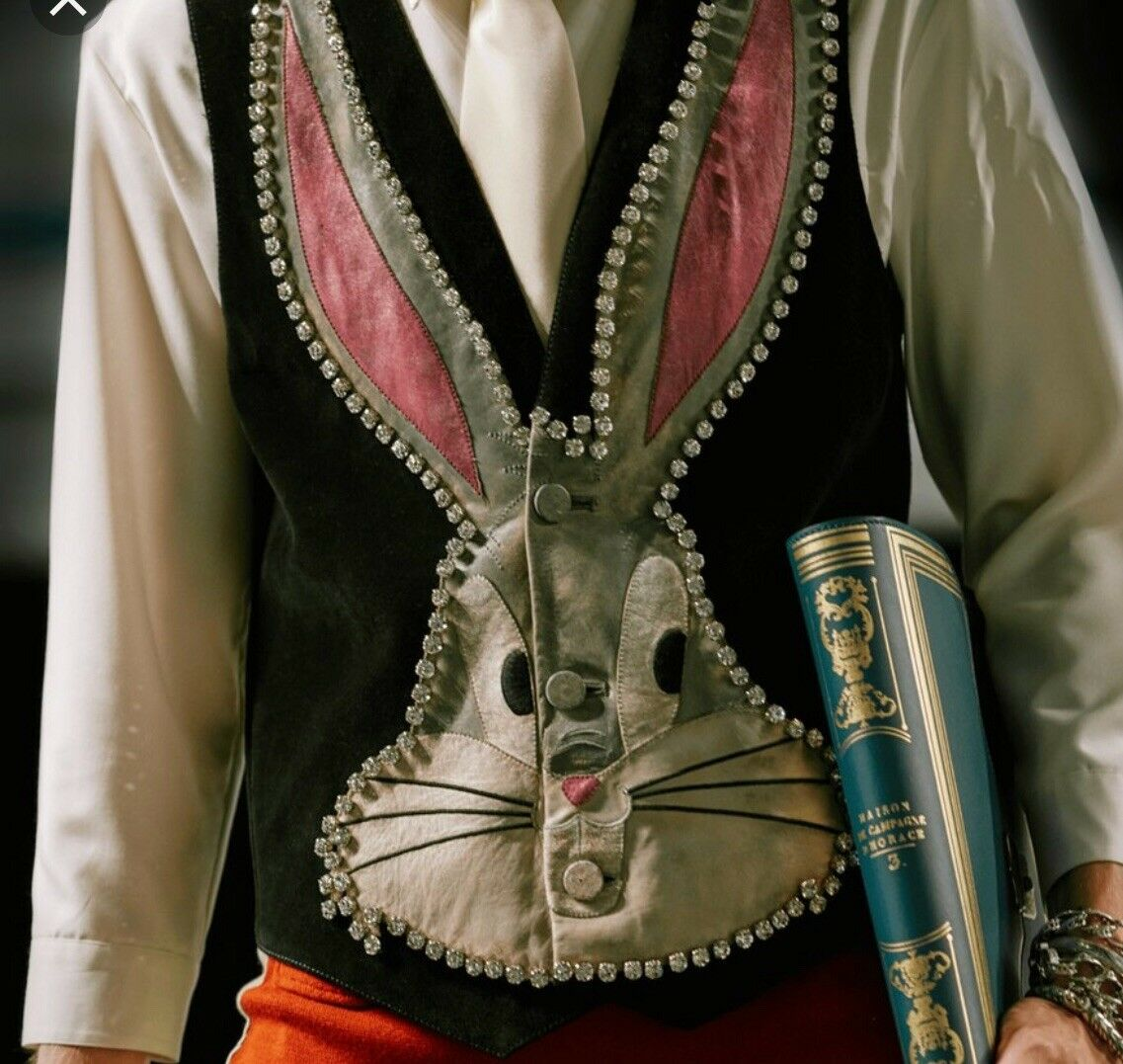 Damenschuhe Luxury EmbroideROT BUGS BUNNY Fall Crystal Embellished Sleveless Vest Top