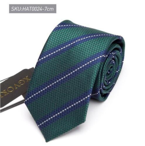 New brand XGVOKH Mens Ties Striped slim Tie luxury Wedding Business Neck Tie 7CM