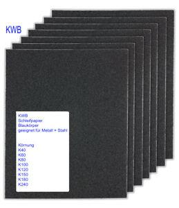 Kwb Schleifpapier Blaukorper Schleifbogen Metall Stahl 230x280mm