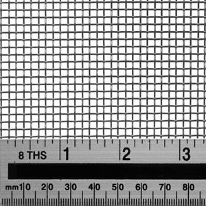Woven Wire 8 Mesh -30X60cm Size - 2.5mm Hole Filter Sheet Stainless Steel 304L