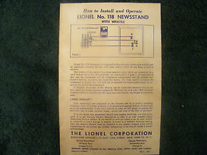 LIONEL-118-NEWSSTAND-with-WHISTLE-INSTRUCTIONS-PHOTOCOPY
