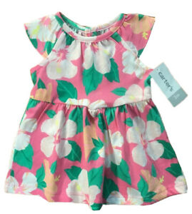 Baby Girl/'s Tropical Dress Summer Flamingo Parrot Newborn 2 years pink yellow