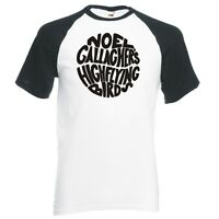 "NOEL GALLAGHER'S HIGH FLYING BIRDS ""CIRCLE LOGO"" UNISEX, RAGLAN BASEBALL T-SHIRT"