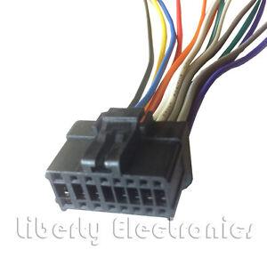new 16 pin wiring harness plug for pioneer deh p2900mp player ebay rh ebay com Wiring Harness Diagram Automotive Wiring Harness