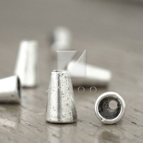 100pcs Tibetan Silver Metal End Beads Caps Jewelry Findings Cone 10x6x6mm BW
