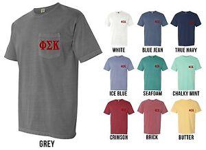 Phi Sigma Kappa Fraternity Psk Letters Comfort Colors Pocket Shirt