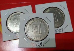 Malaysia-1986-RM1-1-Parliament-Parlimen-coin-1-pc