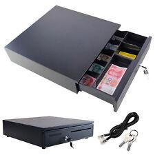 12V/24V POS Cash Drawer Register 5 Bills 5 Coins Removable Tray Till Cash Box