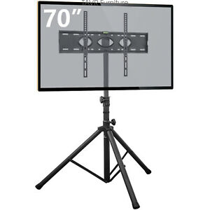 Tripod-TV-Stand-with-Swivel-amp-Tilt-Mount-for-37-034-70-034-Flat-Screen-TVs
