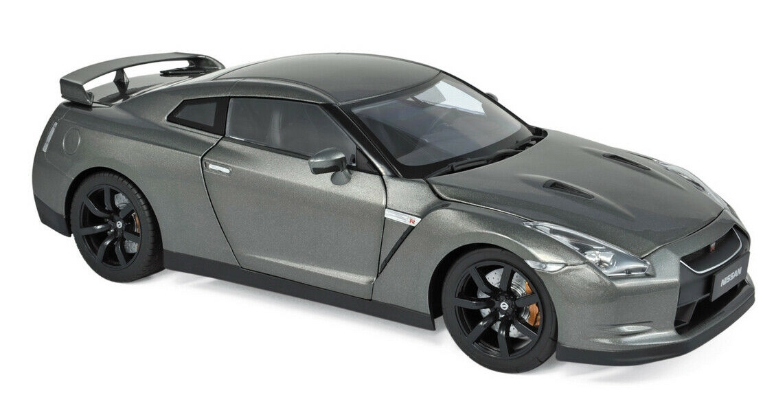 188053 NOREV 1 18 NISSAN GTR r-35 2008 Dark gris Metallic