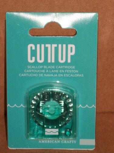 American Crafts Cuttup Trimmer Replacement SCALLOP BLADE CARTRIDGE #63038 NIP
