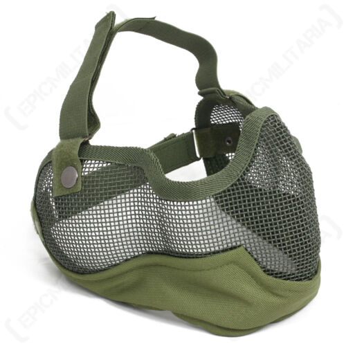 AIRSOFT PAINTBALL Grid FACEMASK Mesh Half Face Protective MASK Colour Option