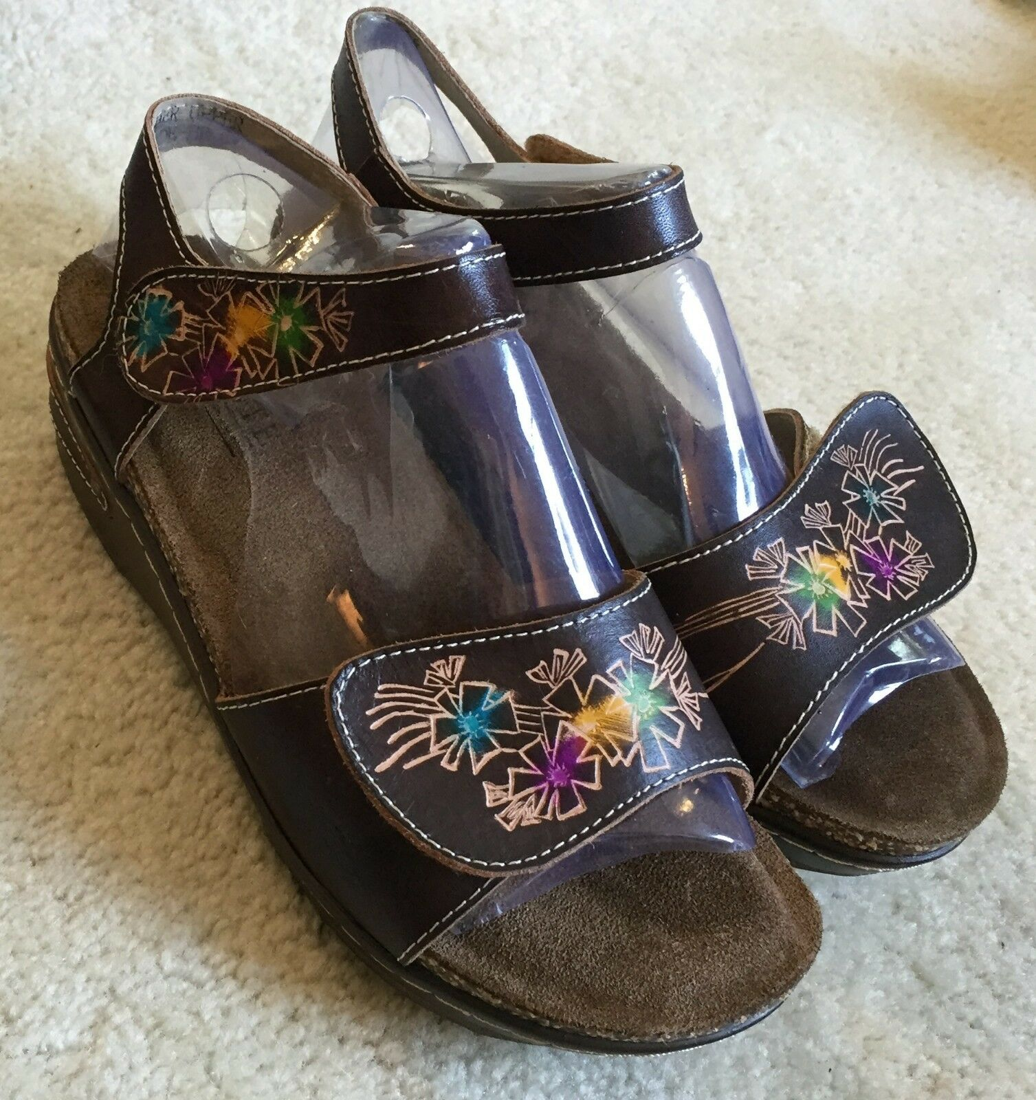 Women's Spring Step Softride Brown Sandals  37   6.5 - 7 M    110