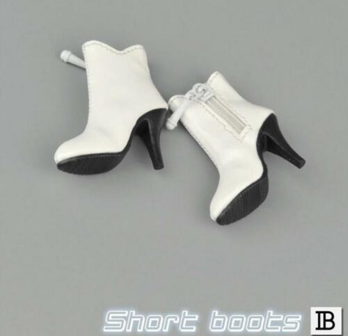 1//6 woman short leather white boots for phicen hot toys verycool kumik body❶USA❶