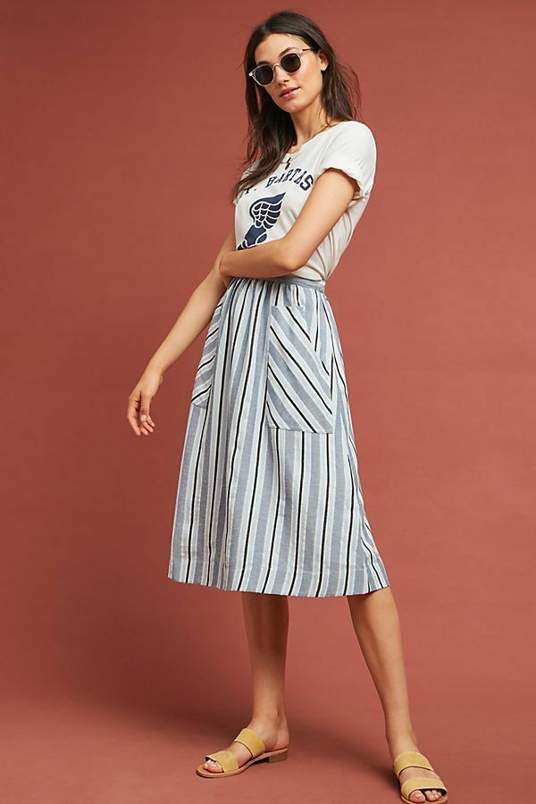 118  Anthropologie  Luria Striped Skirt size XS new nwt