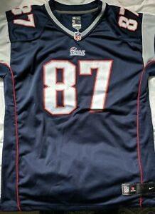 New-England-Patriots-Gronkowski-87-NFL-on-field-Youth-XL-Adult-Small-medium