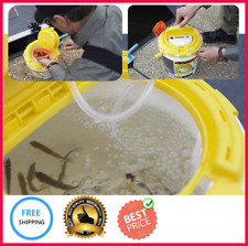 Aerated Bait Bucket Insulated Aerator Lid Live Fish Frabill Fishing Minnow Saver