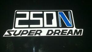 Honda-Superdream-250n-Pair-of-Blue-N-Side-Panel-Decals-Stickers