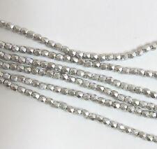 Full Labradore 3mm Faceted Firepolish Czech Glass 48 beads