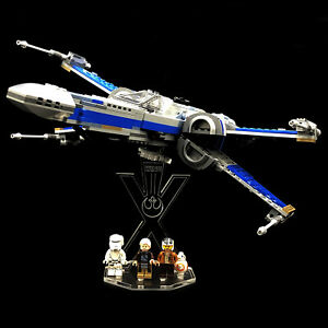 Acryl-Display-Stand-Acrylglas-Standfuss-fuer-Lego-75149-Resistance-X-Wing-Fighter