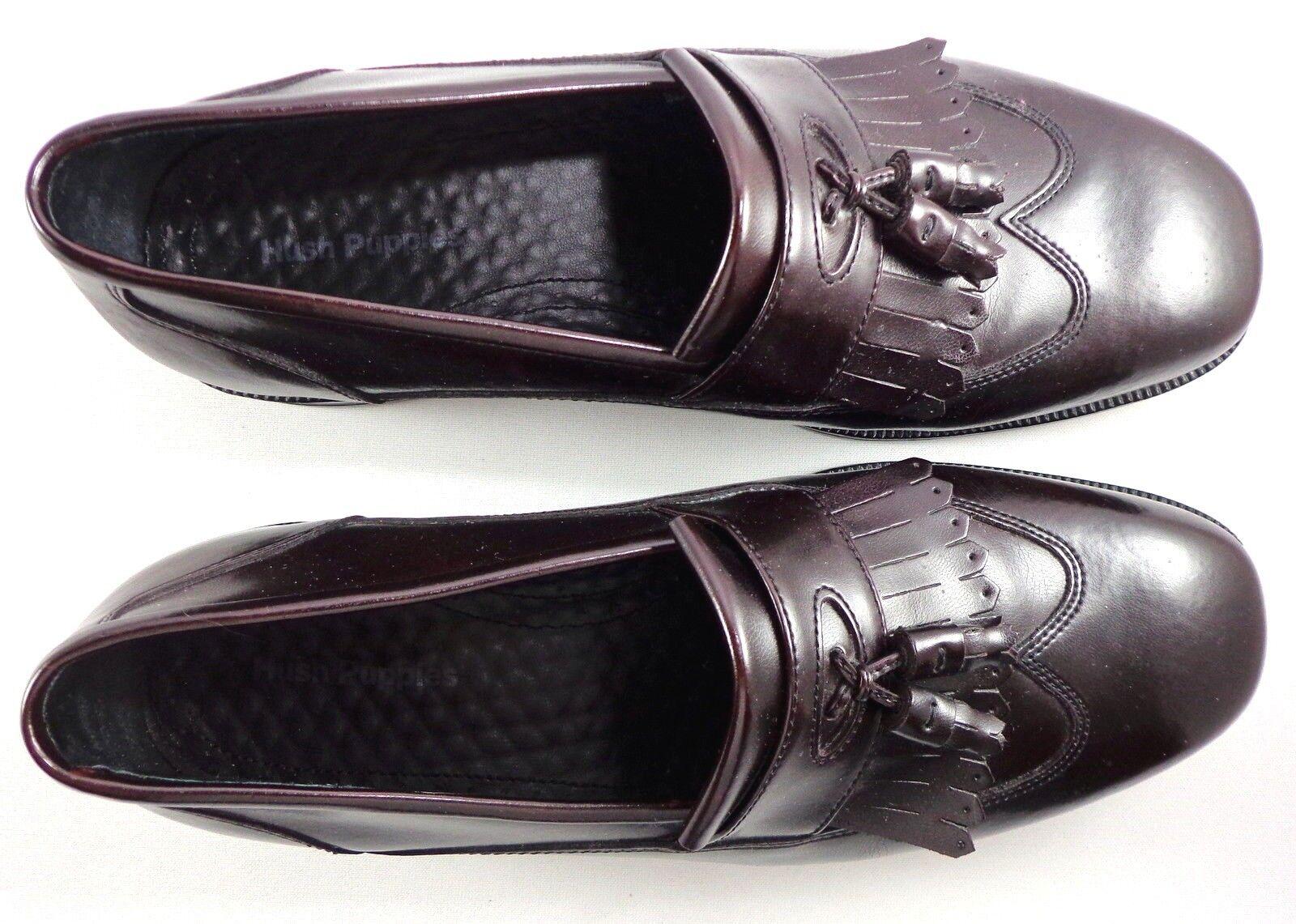 Hush Puppies Wingtip Loafers Leder   Herren Burgundy Leder Loafers Schuhes Größe 10 M with Tassels fc1bf8