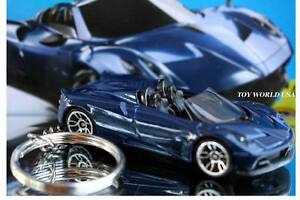 custom key chain '17 pagani huayra roadster blue | ebay