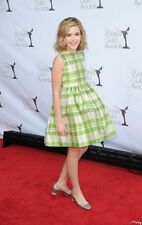 Worn Once! Size 5 Papo d'Anjo Oscar de la Renta Green Plaid Silk Dress
