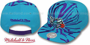 c86b47f50ce Image is loading Hornets-039-EARTHQUAKE-SNAPBACK-039-Teal-Hats-by-