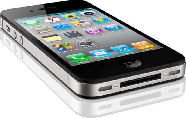 NEW APPLE IPHONE 4S 32GB iOS7 3G 8MP GPS WIFI UNLOCKED SMARTPHONE BLACK BLK