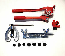 Brake Fuel Pipe Repair Double Flaring Dies Tool Set Clamp Kit Tube Cutter