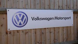 Volkswagen Racing PVC Banner Garage Workshop Sign BANPN00140