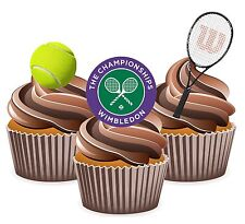 Tennis Wimbledon Themed 12 Edible Wafer Cup Cake Toppers Birthday Decorations