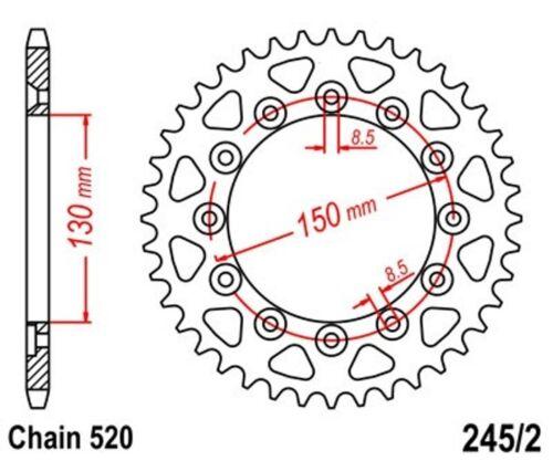 KR Kettenrad 53Z Teilung 520 YAMAHA YZ 450 F 04-05 NEU .. Rear sprocket