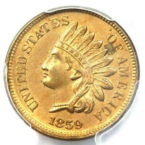 1859-Indian-Cent-1C-PCGS-Uncirculated-Details-Rare-Early-UNC-MS-Penny