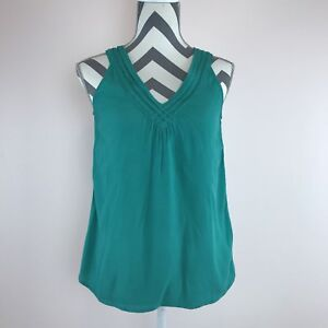 935a3abc3ddc8a Banana Republic Women s US Size XS Top Sleeveless Blouse Teal V Neck ...