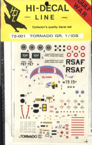 IDS 1:72 Modellbau Abziehbild 1 Hi-Decal Line 72-001 Tornado GR