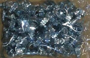 100pc-Steel-Metal-Hose-Clamps-Adjustable-Band-1-4-034-to-5-8-034-FREE-SHIPPING-NEW
