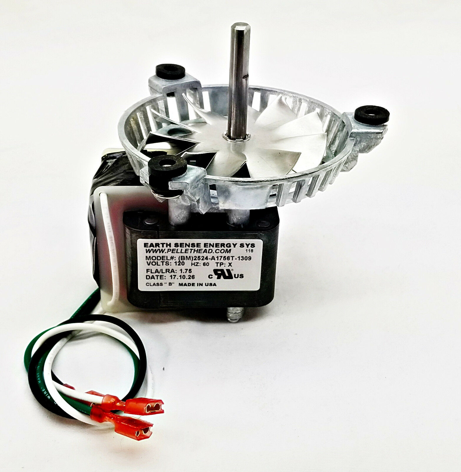 Harman Exhaust Combustion Fan Blower Motor + FAN PADDLE. 3-21-08639 AMP-UNIVCOMB
