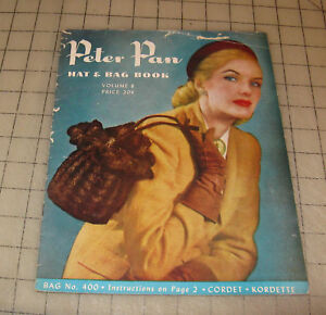 1940s-PETER-PAN-HAT-amp-BAG-BOOK-8-Knitting-Crochet-Booklet