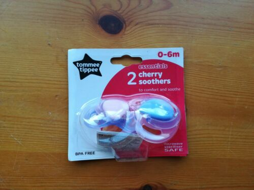 Tommee Tippee Mama como Cereza Chupetes 0-6 meses 2 Paquete