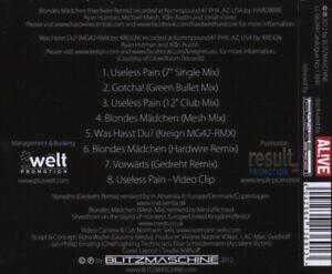 BLITZMASCHINE-USELESS-PAIN-CD-SINGLE-NEU