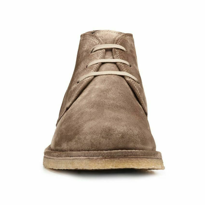 Mens Handmade Boots Taupe Suede Plain-Toe Crepe Sole Chukka Formal Wear shoes New