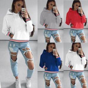 Womens-Long-Sleeve-Hoodie-Sweatshirt-Jumper-Hooded-Pullover-Tops-Blouse-Coat