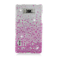 LG Optimus Showtime Crystal Diamond BLING Hard Case Phone Cover Gradient Pink