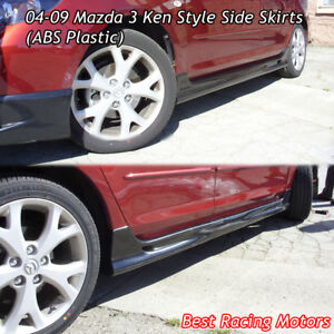 Jdm style side skirts abs fits 04 09 mazda 3 ebay image is loading jdm style side skirts abs fits 04 09 publicscrutiny Image collections