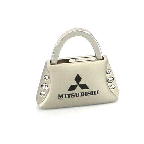 Mitsubishi Purse Shape Keychain W/6 Swarovski Crystals