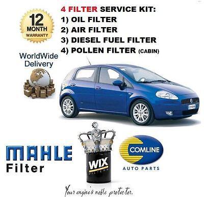 Pour FIAT DOBLO 1.9 D 2001-2009 service kit huile air carburant filtre