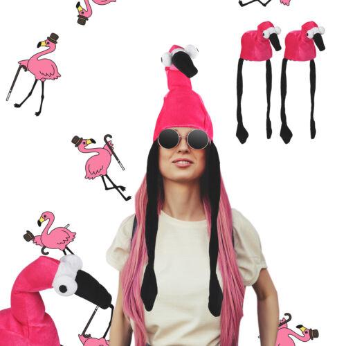 tiermützen 3 x Flamingo chapeau tierhut adultes Flamingo Casquette mardi gras Unisexe