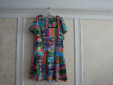 NWT JUICY COUTURE GIRLS MULTI COLOR 100% SILK DRESS 14